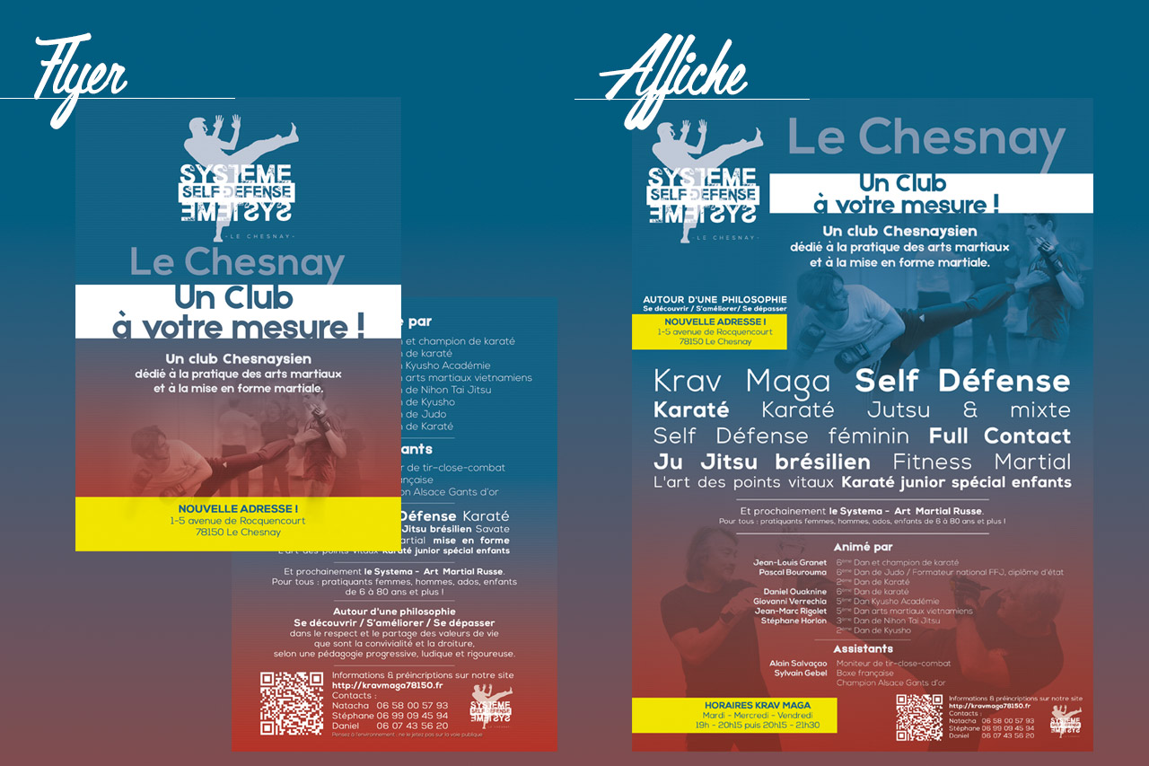 Flyer et Affiche Self Défense Le Chesnay