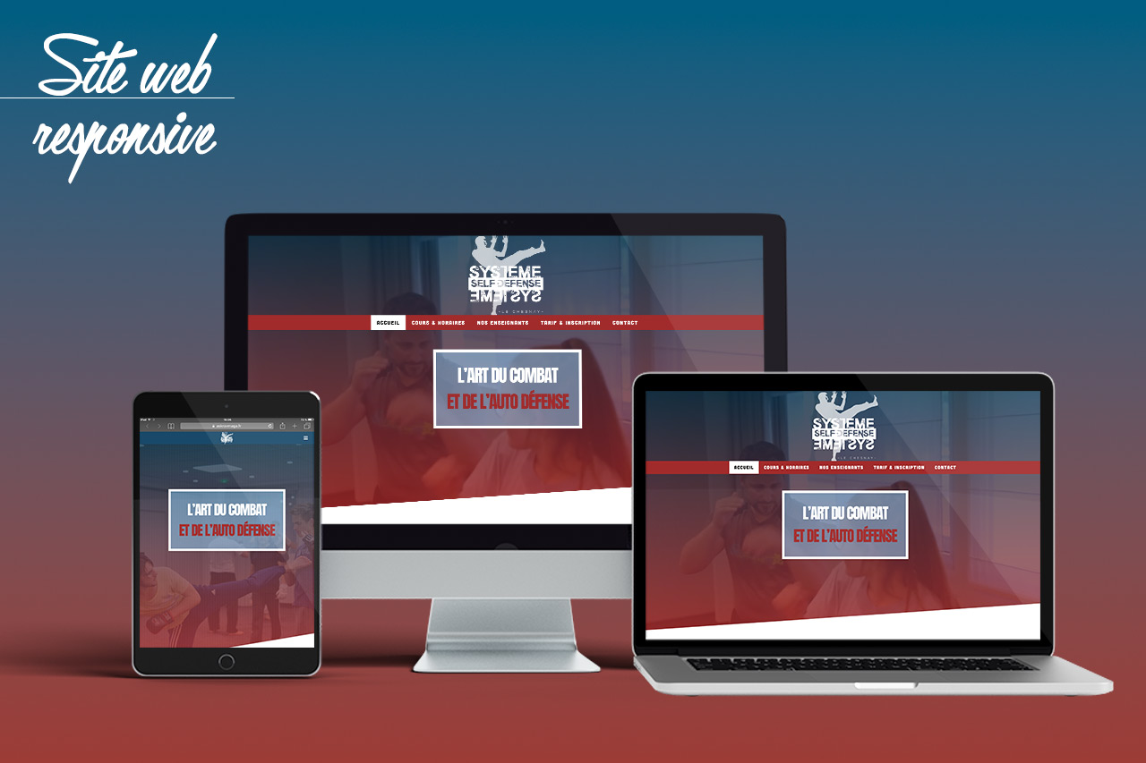Site web responsive Self Défense Le Chesnay